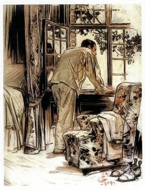 """morning has broken, from """"Voice in the Rice"""" - J.C. Leyendecker"""