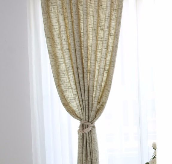 The beige burlap curtains add a soft elegant style for your home decor. The beige color is the perfect complement to any white decor. It create a modern and bea
