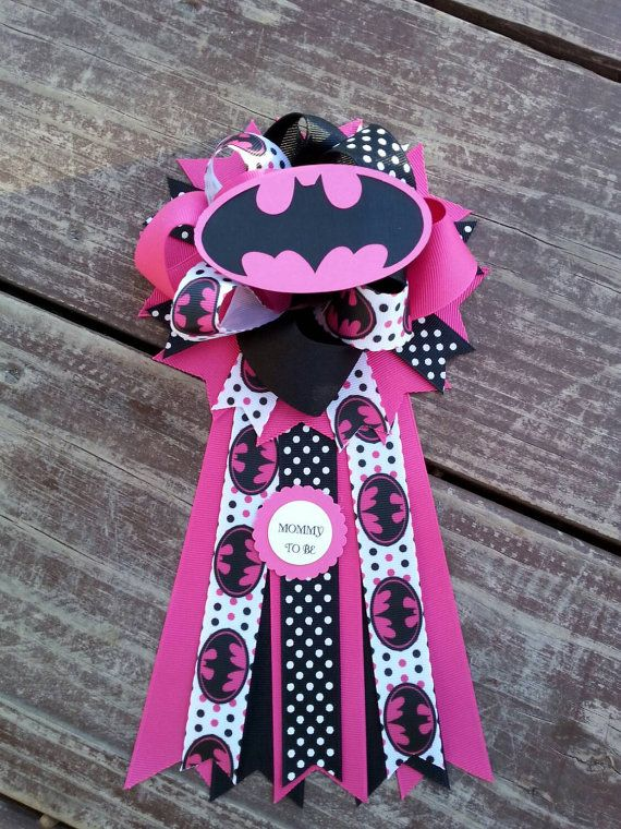 Check out this item in my Etsy shop https://www.etsy.com/listing/261395555/batgirl-bat-man-baby-shower-mum