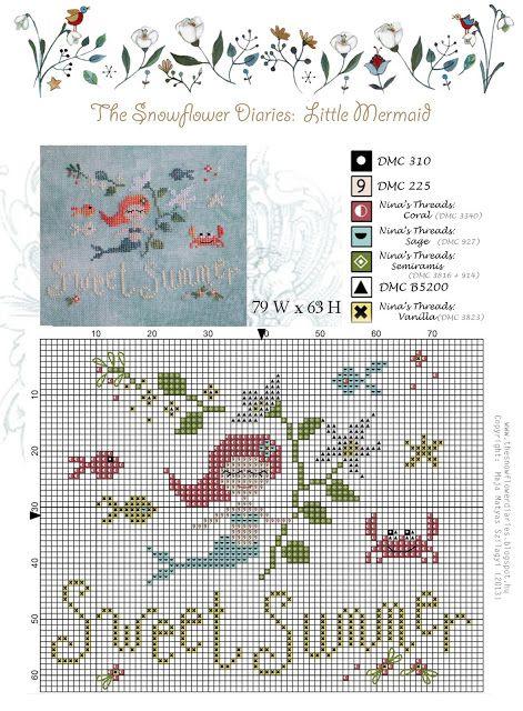 The Snowflower Diaries: LITTLE MERMAID PATTERN - free to download:-)