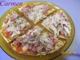 Recetas sanas de Carmen: FALSA PIZZA DE CLARAS DE HUEVO
