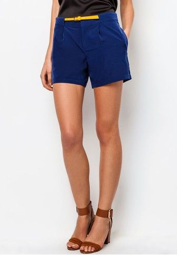 Satin Pleated Shorts