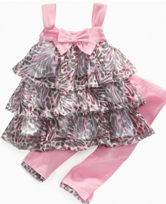 Kids Headquarters Baby Set, Baby Girls Animal Print Tank Dress and Leggings - Kids Baby Girl (0-24 months) - Macy's