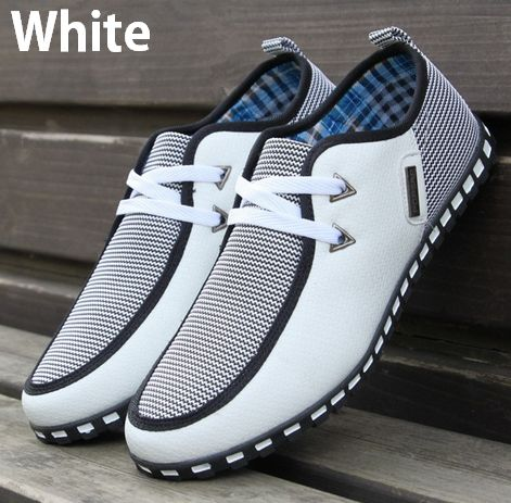 Lace-up PU Leather Casual Shoes England Style Fashion Breathable Mens Shoes