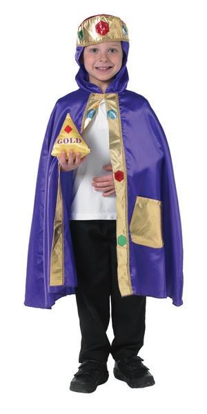 Kid's Nativity King Christmas Fancy Dress Costume