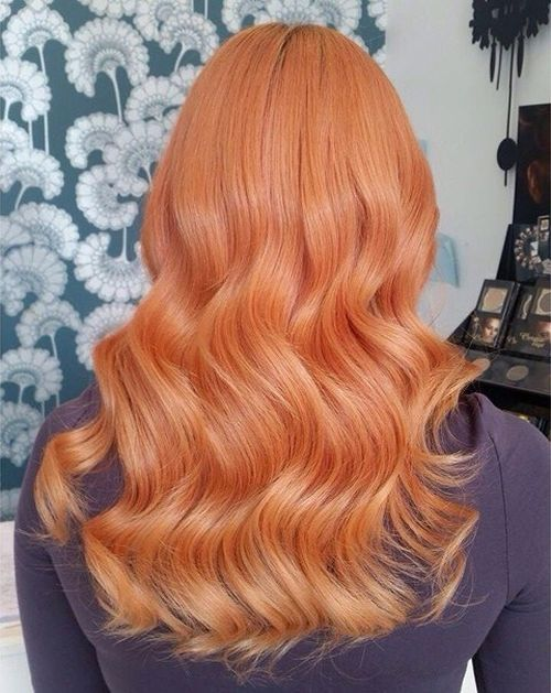 Pastel Red Wavy Hair