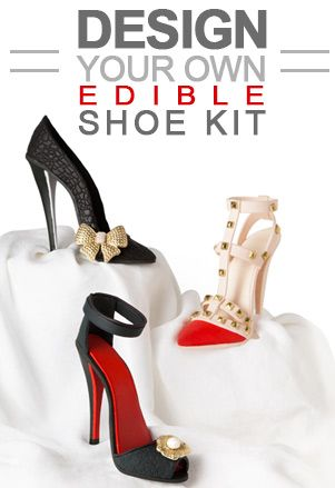 Pin Our Fondant Stiletto High Heel Shoe Kit for a chance to win one for free!