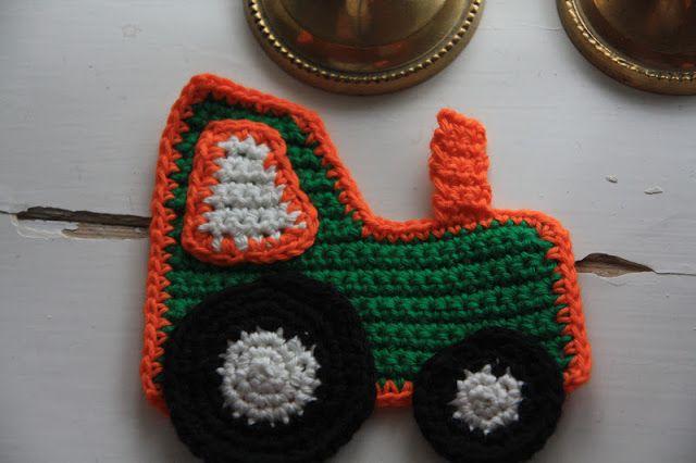 Annas mor blogger: DIY hæklet traktor til applikation