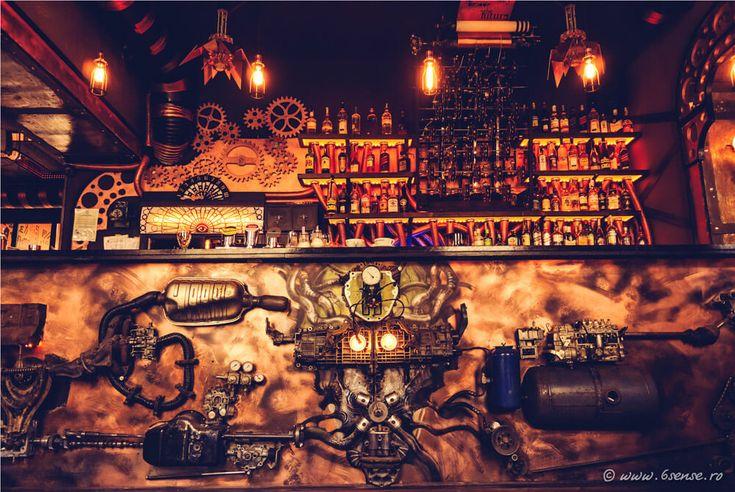 Enigma Steampunk Cafe in Romania UnleashesKineticEnergy - http://freshome.com/steampunk-cafe-romania/