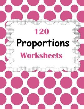 Proportions package includes 120 worksheets.50% OFF for the first day!Answers included.Table of Contents.State whether the following ratios are proportional. (30 Worksheets)6:2 and 36:12_______Find the missing number in the given proportions. (30 Worksheets)5:6 = 10:__Create proportion from the given set of numbers. (30 Worksheets)4, 2, 1, 8Proportion is _____Solve for the unknown in the given proportions. (30 Worksheets)1:5=6:XX= __You May Also Like This:ADDITION AND SUBTRACTIONAddition…