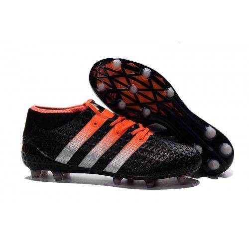 Adidas Ace Fútbol - Adidas Ace 2016 Etch Pack Baratas Botas De Futbol FG-AG Negro Naranja
