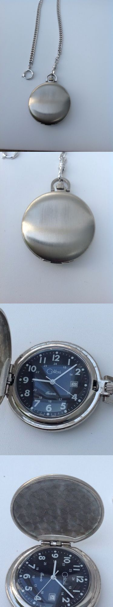 Modern 3938: Colibri Pocket Watch With Black Face And White Numbs -> BUY IT NOW ONLY: $54 on eBay!