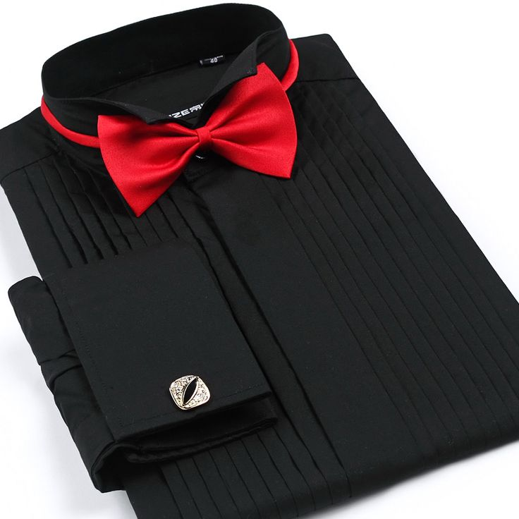 Tuxedo shirt for Men White Black Pink S-4XL Plus Size Wedding Party Groom Dress Shirt Vestidos de Noiva Red Bow Tie dress shirt