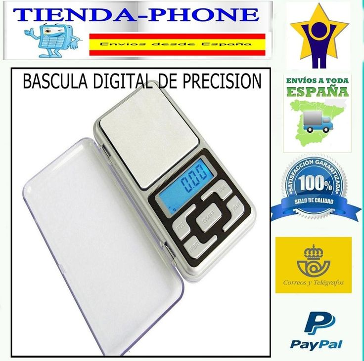 Balanza de Precision 0.1 gr 500 gr Bascula Digital Bolsillo Peso para Joyeria
