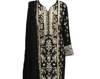 Chemise pakistanais vêtements  Gota avec Cigarette pantalon