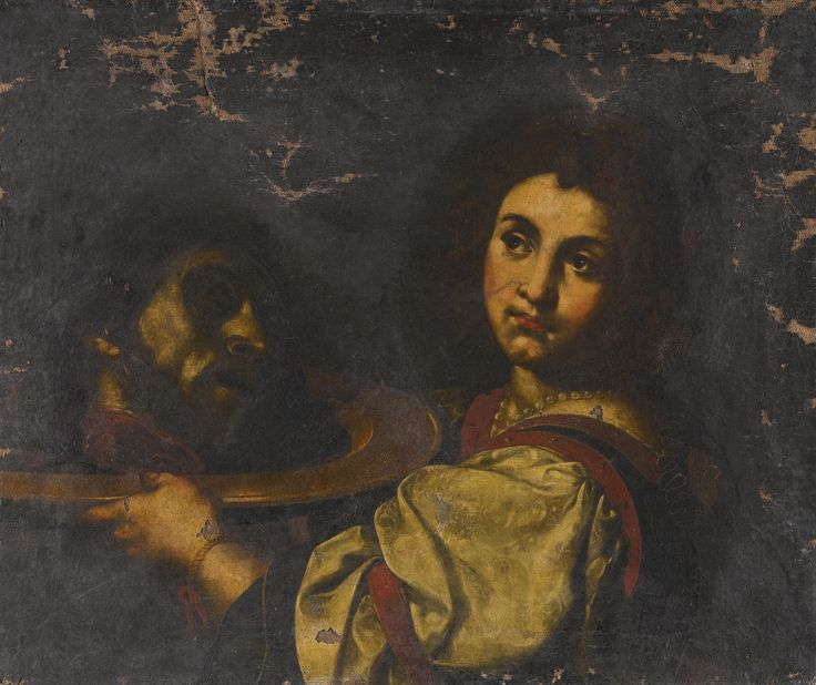 Follower of Daniele Crespi SALOMÈ WITH THE HEAD OF SAINT JOHN THE BAPTIST oil on canvas, unframed 63.4 by 76 cm.; 25 by 29 7/8  in.: