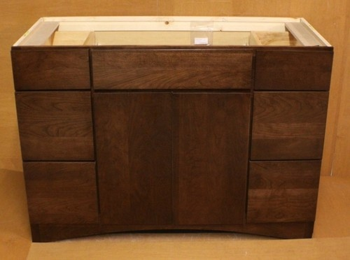 Kraftmaid cherry bathroom vanity sink base cabinet 48 w Kraftmaid bathroom cabinets