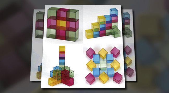 'Cubos e Criatividade' - padrões e cores para estimular a concentração, motricidade e desenvolvimento de senso estético, organização e estética