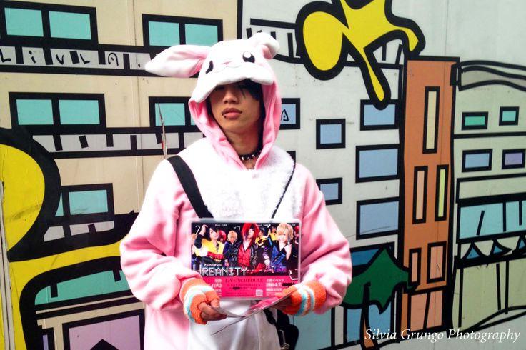 Kawaii bunny boy in the streets of Harajuku, Tokyo