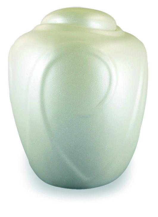 Urna Funeraria para cenizas 100% biodegradable. Serie Jeremiel Modelo Onda White.