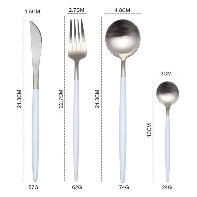 Gold / Silver Cutlery Set – CheapHomeDeco