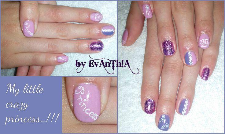 #nails #pink #purple #princess #princessnails #glitter #cmarso #by_Evanthia