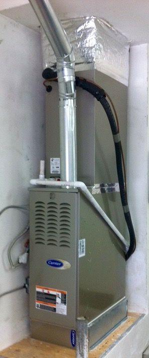 Furnace installation in garage. | Installations & Repair ...