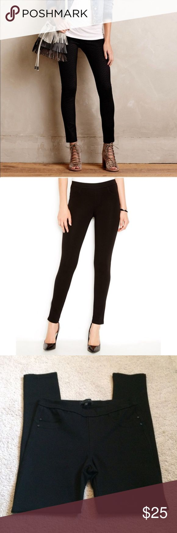 "NEW Sanctuary Black Ponte Leggings Pants Sz M NEW WITHOUT TAGS    These leggings provide a sleek foundation for casual looks with a mid rise and denim pocket styling. This super soft legging features an unique tri-blend stretch technology in knit ponte to provide an ultra-flattering shape.  Line across tag to avoid store returns. These pants are the best! Bundle and save 20%!   Front double scoop pocket detail Mid-weight super stretch ponte fabric Back curved yoke  Rise 9"" Inseam 29'' 68%…"