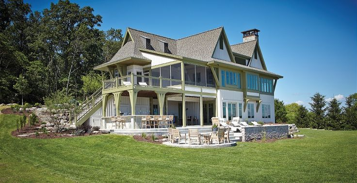 Cottage House Plan with 3877 Square Feet and 6 Bedrooms from Dream Home Source | House Plan Code DHSW076008