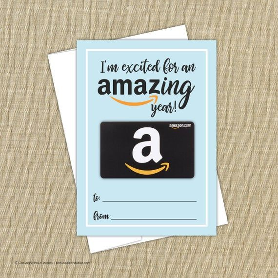 Amazon Gift Card Holder Instant Download Amazon Gift Card Etsy In 2020 Gift Card Holder Gift Card Amazon Gift Cards