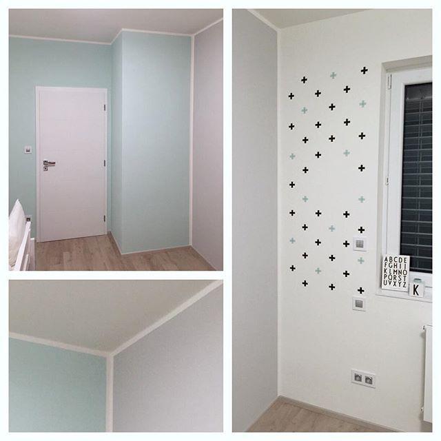 First step - walls are ready - painted by loving mummy.💙RELAX!!!! #scandinavian #scandinavianhome #scandinaviandesign #babyroom #kids #kidsroom #decor #decoration #homedecor #wallpainting #interior #interiordesign