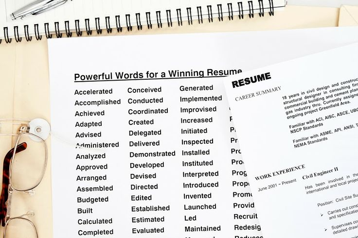 Power Words For Resumes.