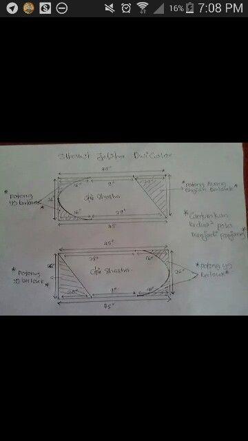Shawl oblong dwicolor