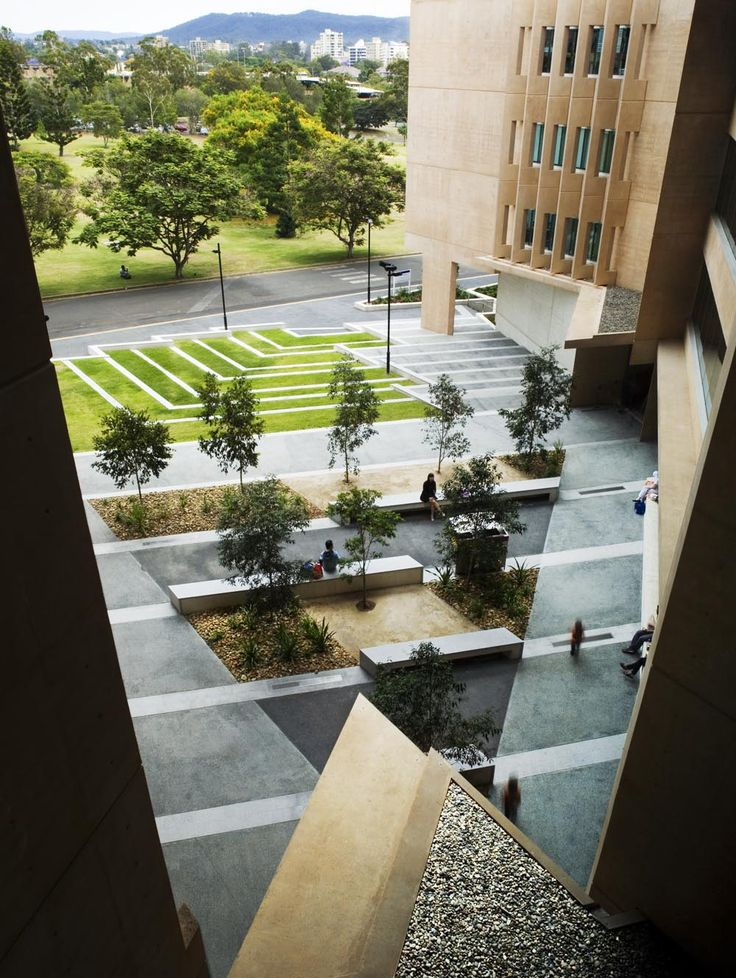 Sir Llew Edwards Building at University of Queensland in Brisbane by Richard Kirk Architect