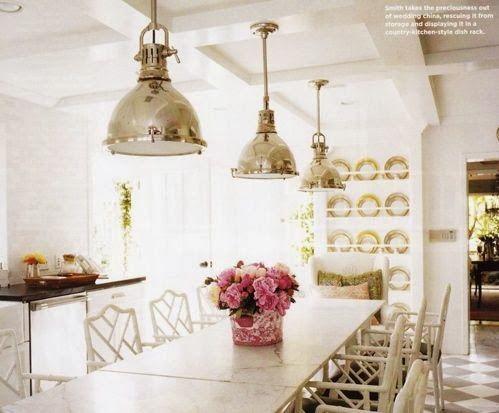 Home Decor Ideas: Love the industrial chrome light pendants!