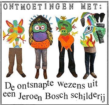 Vondstenfabriek. Groep 7 en 8 van basisschool de Spelelier in Boxtel hebben een inspirerende tentoonstelling bezocht over Jeroen Bosch. Daarna was het tijd om zelf rare wezens te maken! Er werden wezens geschilderd, verhalen over ontmoetingen met de wezens geschreven en foto´s gemaakt van het schilderproces.