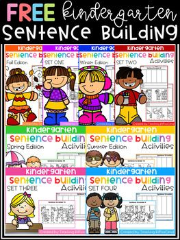 Kindergarten Writing Station These are great for beginning readers in kindergarten to practice building sentences. They are perfect for literacy centers, daily morning work. These are specifically designed for beginning writers and beginning readers.