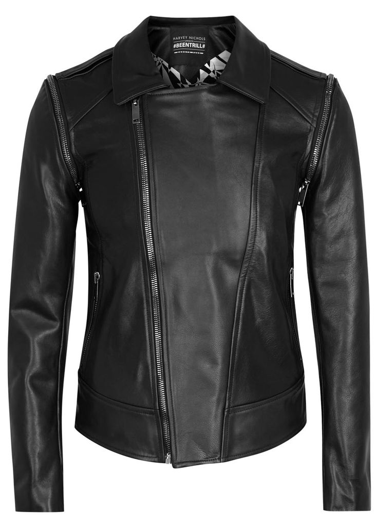 exclusive to harvey nichols beentrill x gareth pugh black leather biker jacket collection. Black Bedroom Furniture Sets. Home Design Ideas