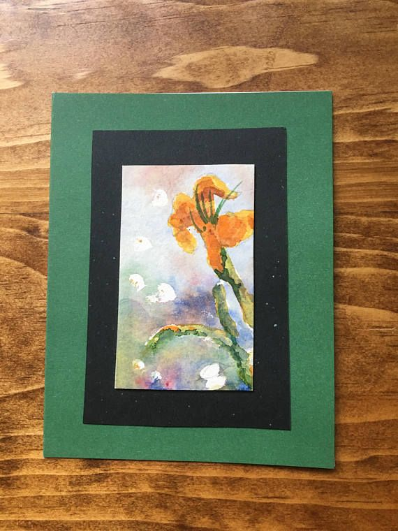 Tiger Lily Note Card Original Watercolour Painting 5
