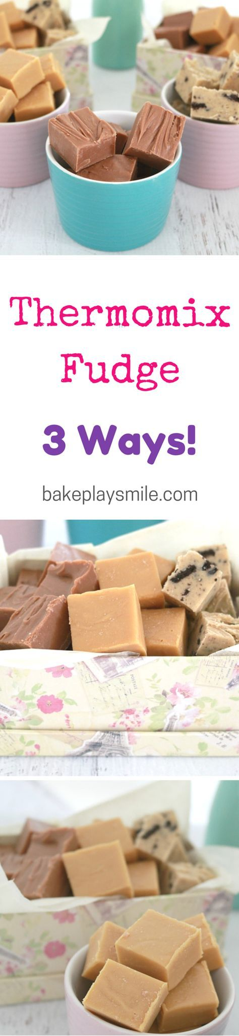 Salted Caramel, Chocolate and Cookies & Cream... making fudge in the Thermomix has never been so easy!