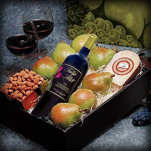 Red Wine Gift Basket