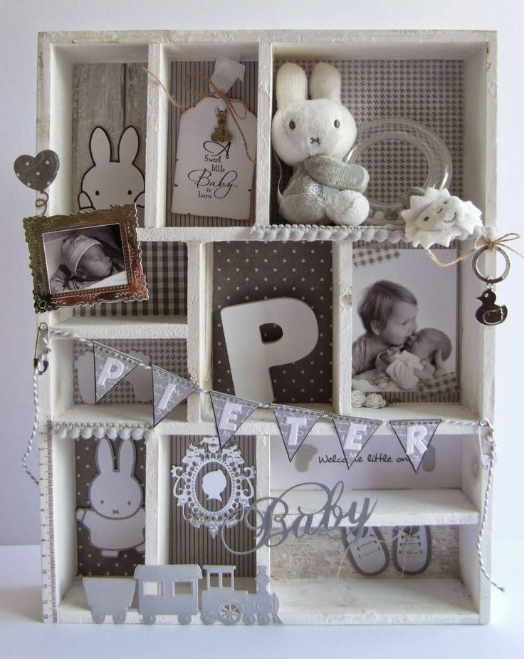 Kaarten & zo: Nijntje letterbak met bv geboortekaart knuffeltje foto en andere leuke spullen - cadeau-idee