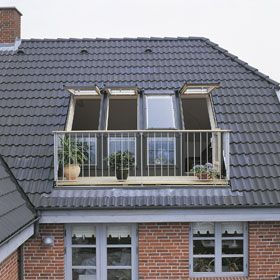 roof top terrace inspiration - we're having our roof renovated soon. VELUX GEL