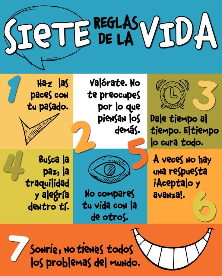 """.para usar con el subjuntivo... explica tus """"7 reglas de la vida"""" usando el subjuntivo..."""