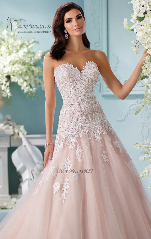 Boho Allık Pembe Gelinlik Dantel Beyaz Custom Made Düğün önlükler Bel Prenses Gelin Elbise 2017 Gelinlik Da Sposa Vestidos