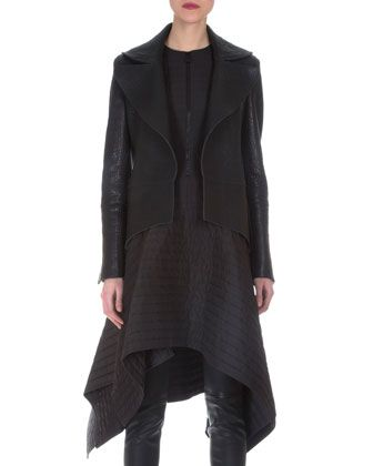 Stamped Napa Leather Tailcoat by Akris at Neiman Marcus.