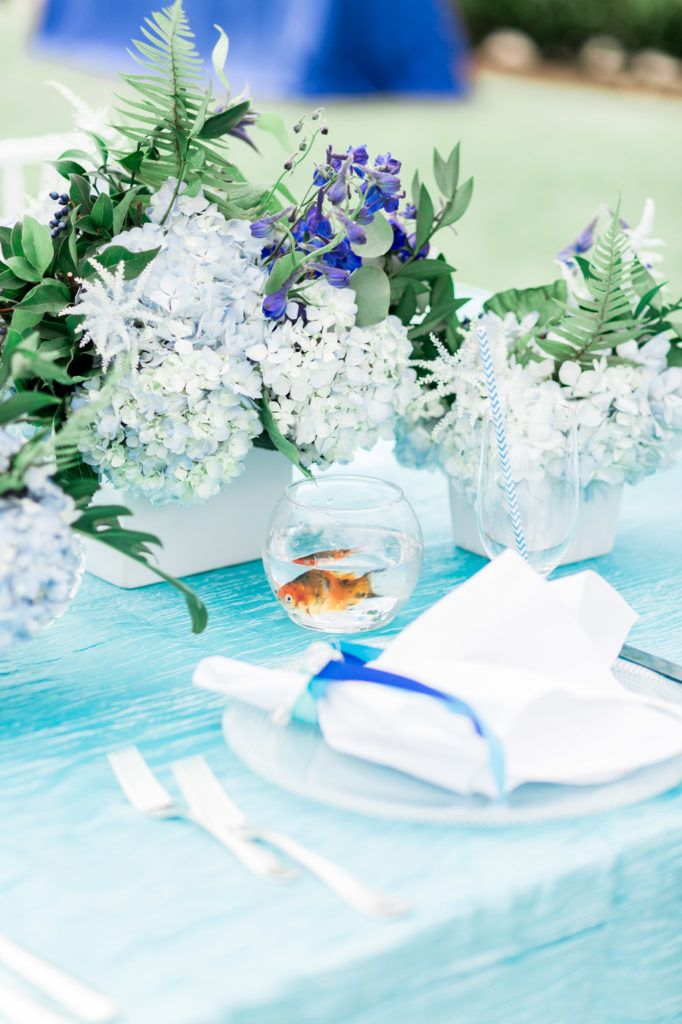 Hydrangea Fishbowl Centerpiece : Best ideas about goldfish centerpiece on pinterest