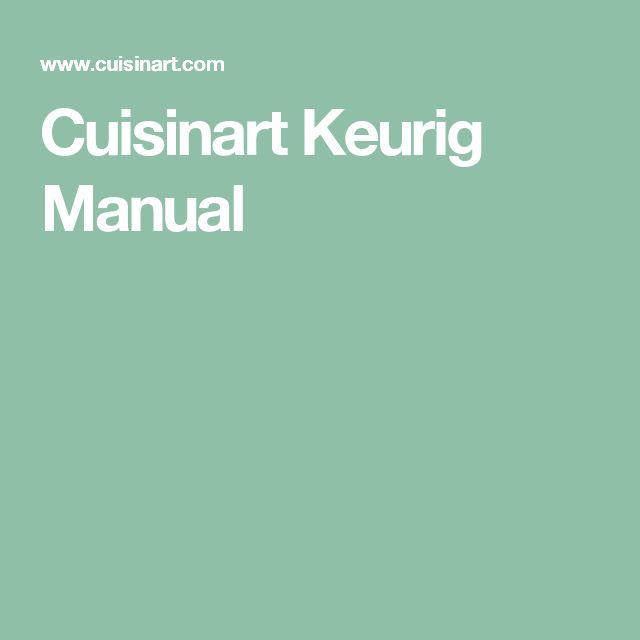 Cuisinart Keurig Manual