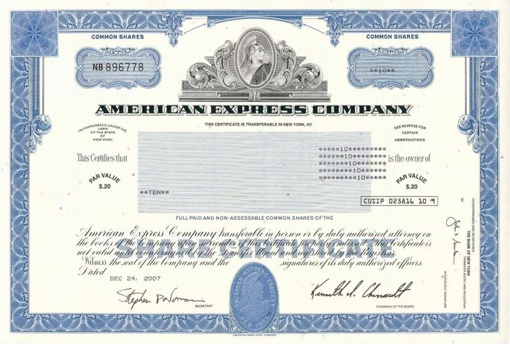 95 best Original Stock Certificates images on Pinterest Erie - blank stock certificate template