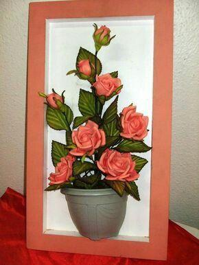 Mas Y Mas Manualidades Crea Un Bello Cuadro Decorativo Con Flores - Manualidades-con-flores-artificiales